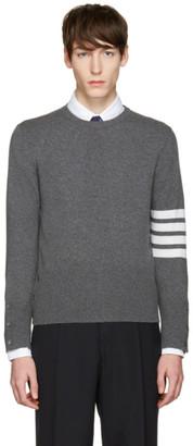 Thom Browne Grey Classic Crewneck Short Pullover $1,500 thestylecure.com