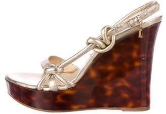 Christian Dior Leather Platform Wedges