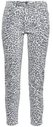 Current/Elliott The Stiletto Leopard-print Mid-rise Skinny Jeans