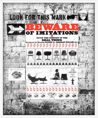Design Within Reach Beware of Imitations Framed Poster