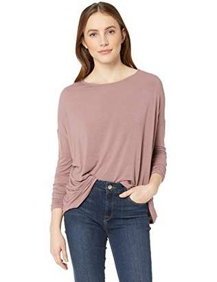 Majestic Filatures Women's Soft Touch Extrafine L/S Drop Shoulder Boat Neck