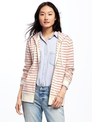Relaxed Full-Zip Striped Hoodie for Women $34.94 thestylecure.com