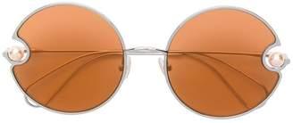e005137efc Christopher Kane Eyewear round shaped sunglasses