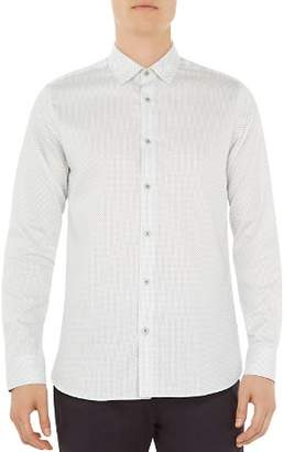 Ted Baker Boomtwn Micro Geo Regular Fit Button-Down Shirt