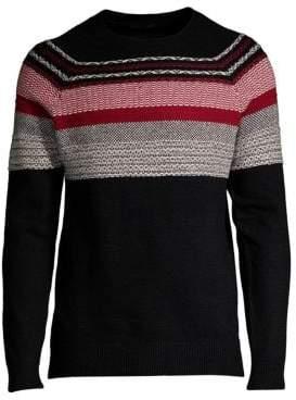 ATM Anthony Thomas Melillo Fair Isle Cotton Sweater