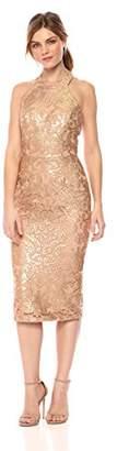 Dress the Population Women's Cassie Halter Neck Lace