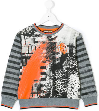 Roberto Cavalli abstract print sweatshirt
