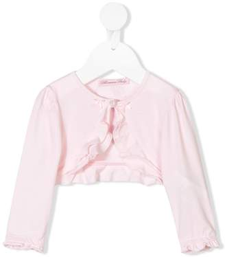 Miss Blumarine ruffled cropped cardigan
