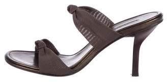 Donald J Pliner Canvas Round-Toe Sandals