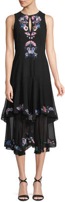 Nanette Lepore Journey Dress w/ Floral Embroidery