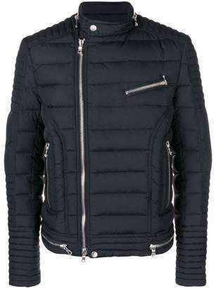 Balmain down biker jacket