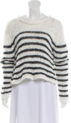 Alexander Wang Striped Crew Neck Sweater