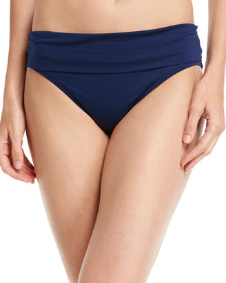 Jantzen Fold-Over Swim Bottom, Blue $39 thestylecure.com