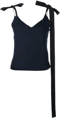 Jacquemus ribbon-tie shoulder camisole