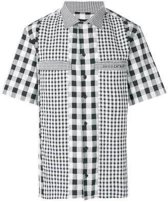 David Catalan gingham panel shirt