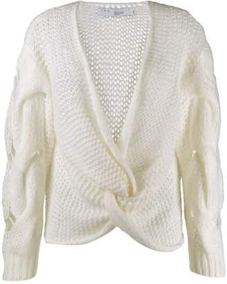 IRO loose knit wrap top