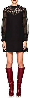 Derek Lam 10 Crosby Women's Lace-Inset Silk Georgette Dress - Black