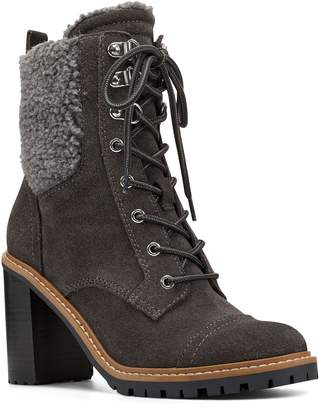 Nine West Leather Lace-Up Booties - Phaedra