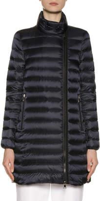 Moncler Asymmetric-Zip Puffer Coat