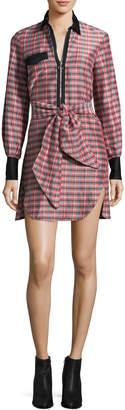 Isabel Marant Women's Mofira Self-Tie Bow Shirtdress