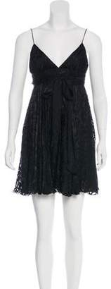 Milly Silk-Blend Mini Dress