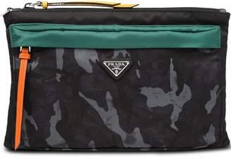 Prada camouflage pouch