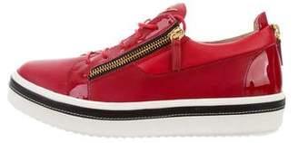 Giuseppe Zanotti Ace Birel Leather Sneakers w/ Tags