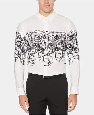 Perry Ellis Men Ski Lodge Graphic Shirt