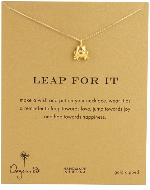 Dogeared Leap For It Reminder 16 (Gold) - Jewelry
