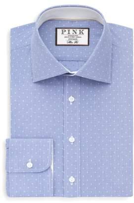 Thomas Pink Slim Fit Dobby Check Dress Shirt