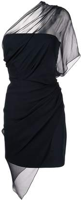Cushnie draped one-shoulder dress
