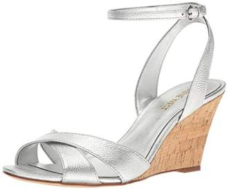 Nine West Women's Kami Metallic Wedge Sandal