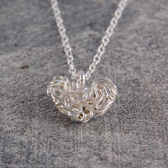 ac11efb2b1d81d Otis Jaxon Mesh Sterling Silver Heart Necklace