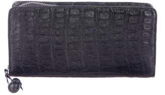 Nancy Gonzalez Crocodile Zip-Around Wallet
