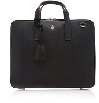 Mark Cross Parker Textured-Leather Briefcase