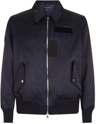 Alexander McQueen Embroidered Satin Bomber Jacket