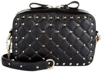 Valentino Leather Rockstud Spike Camera Bag