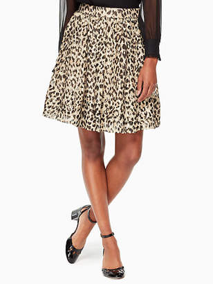Kate Spade Leopard-print clipped dot skirt