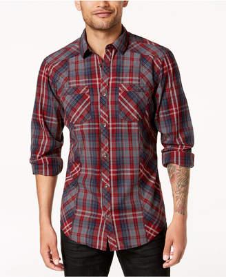 INC International Concepts I.n.c. Men's Plaid Shirt, Created for Macy's