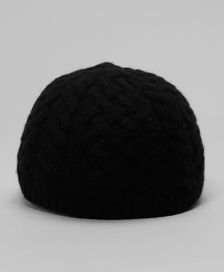 Cashmere/Wool Cable Beanie Hat