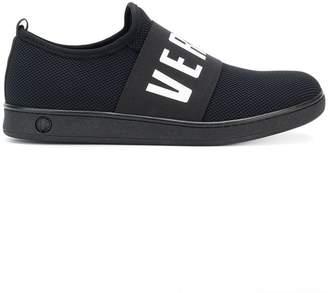 Versus waffled logo slip-on sneakers
