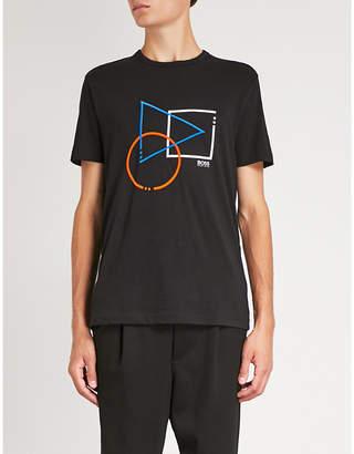 BOSS GREEN Graphic-print cotton T-shirt