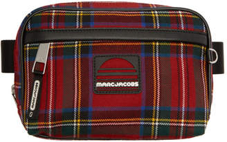 Marc Jacobs Red Tartan Sport Belt Pouch
