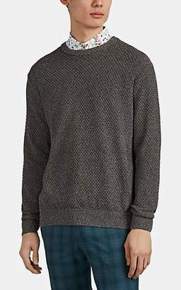 Paul Smith Men's Marled Honeycomb-Stitched Sweater - Brown