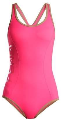 Fendi Racer-back performance swimsuit