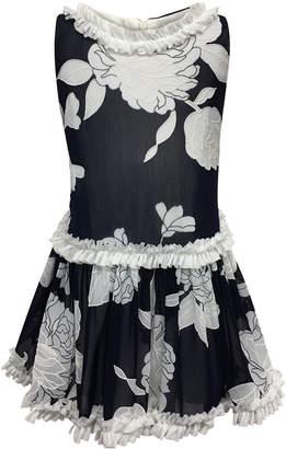 Helena Peony Embroidered Ruffle-Trim Dress, Size 4-6