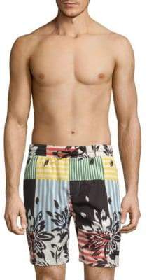 Burberry Floral Patchwork Swim Shorts