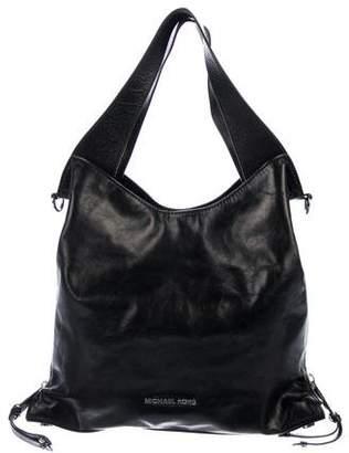 MICHAEL Michael Kors Leather Zip-Accented Satchel
