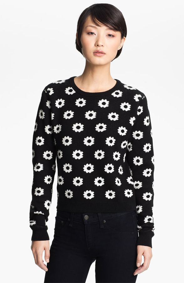 Opening Ceremony Reversible Floral Jacquard Sweater
