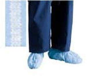 Cardinal Health Convertors Anti-Skid Shoe Cover, Blue, Spunbonded Polypropylene Universal Size, Box of 100